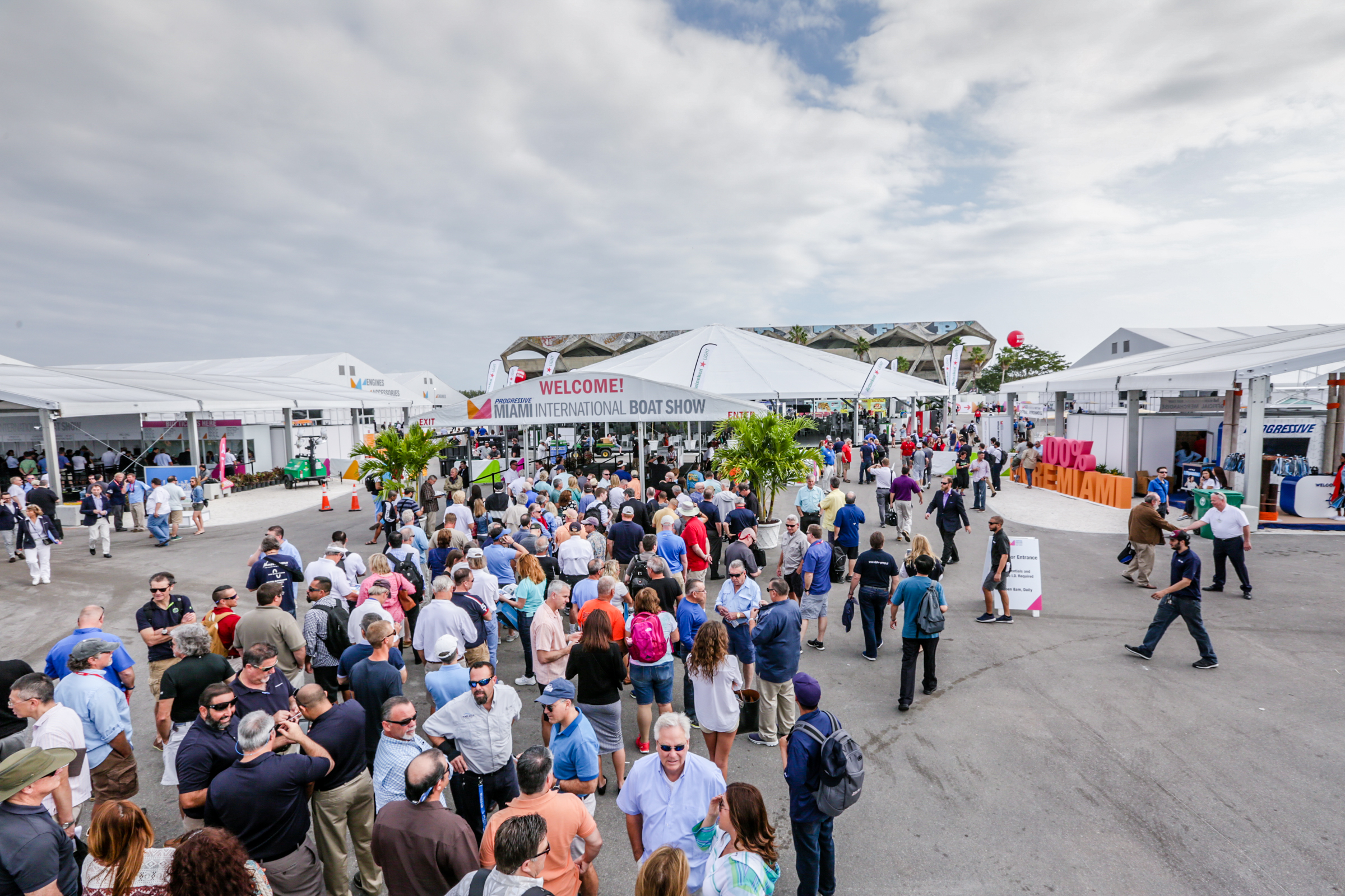 New amenities expanded displays international marketing - Miami boat show ...