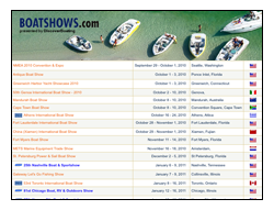 worldwide calendar on boatshows.com