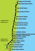 Tri-Rail Stations Map