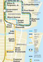 Metromover Stations Map