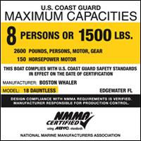 USCG Maximum Capacity Label